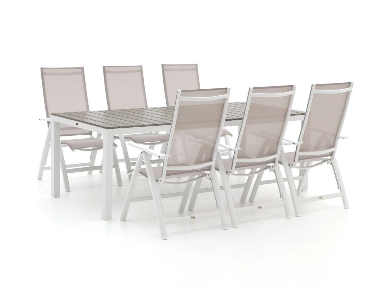 Bellagio Avenza/Fidenza 220cm dining tuinset 7-delig verstelbaar