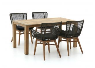 Intenso Variano/ROUGH-S 160cm dining tuinset 5-delig